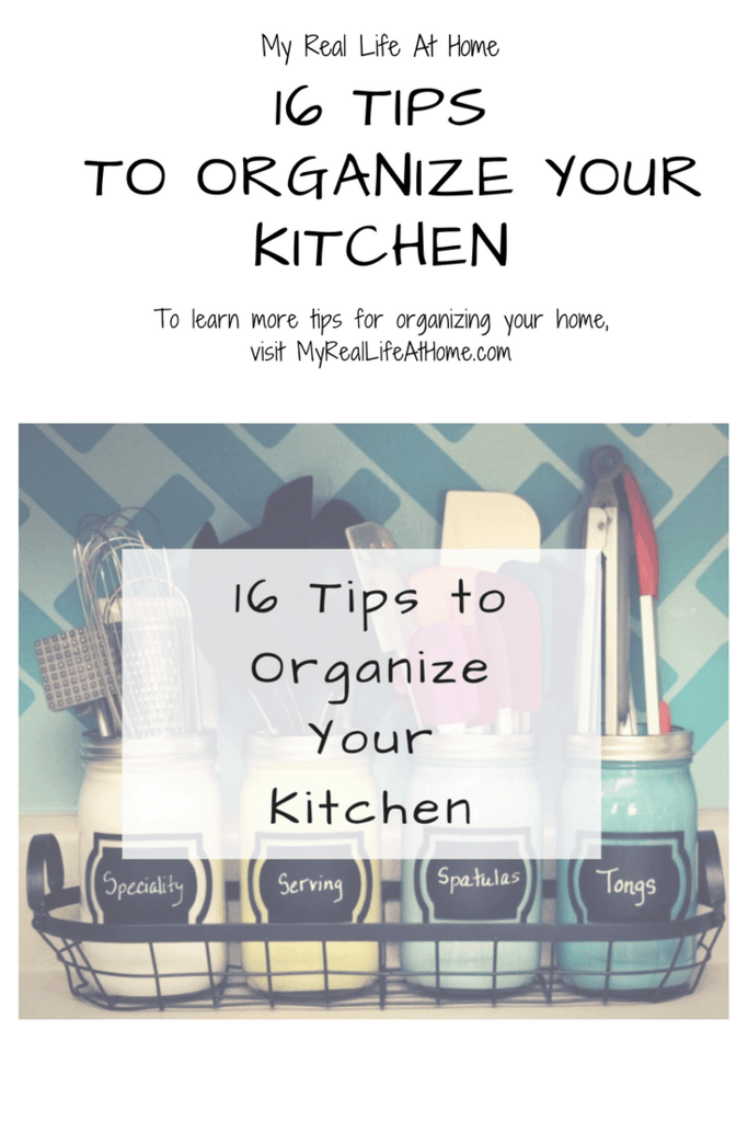 16 tips to help you organize your kitchen #organizemykitchen #cleankitchen #helporganizemyktichen