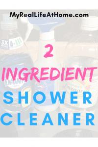 2 Ingredient Shower Cleaner #showercleaner #dawnandvinegar #cleanshowergrime