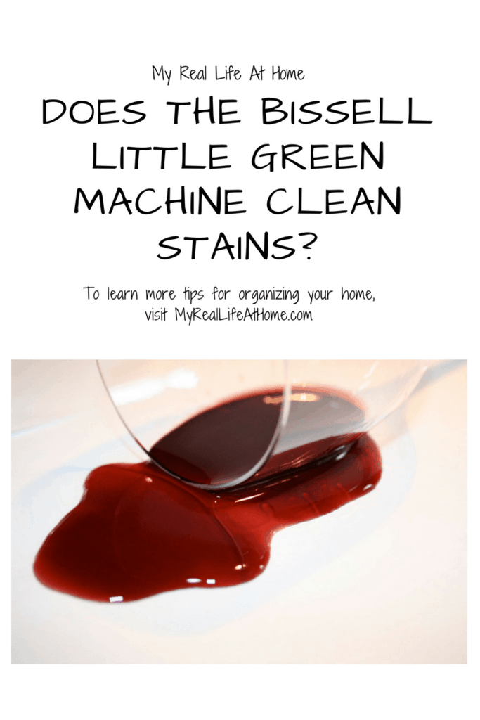 Does the Bissell Little Green machine actually remove stains? #carpetcleaner #bissellgreenmachine #carpetstains