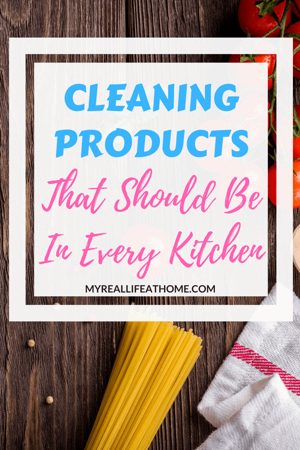 My kitchen seems to be a constant mess. Here's a list of some of my favorite cleaning products to conquer that mess. Not only do I talk about my favorite kitchen cleaning products but I also share a few helpful tips. #cleaning #cleaninghacks #kitchen #cleaningproducts