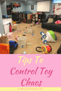 Tips to help you control the toy chaos in your home #organizetoys #toymess #cleanuptoys