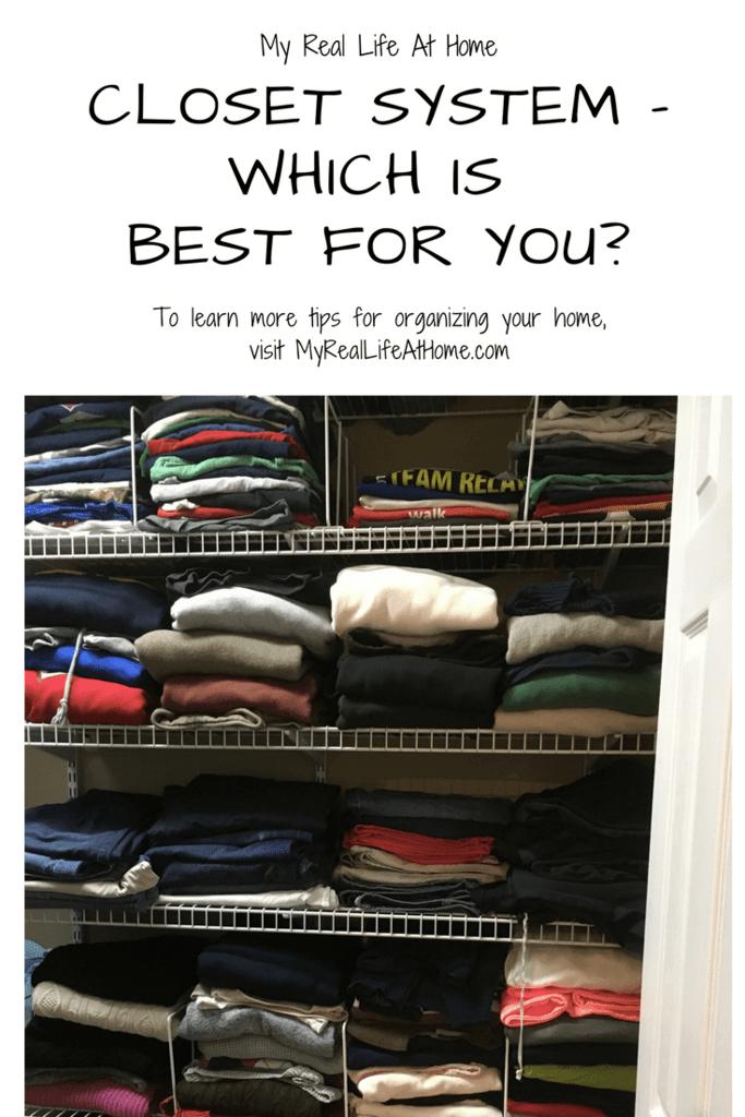 Closet Systems - Which is Best For You? #closetorganization #bestclosetsystem #organizemycloset