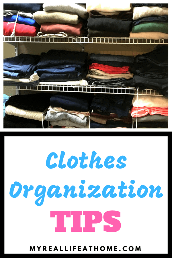 Do you struggle your clothes all over? Check out some great tips on how to better organize your clothes and closet. #organize #organizing #clothes #closet #howto
