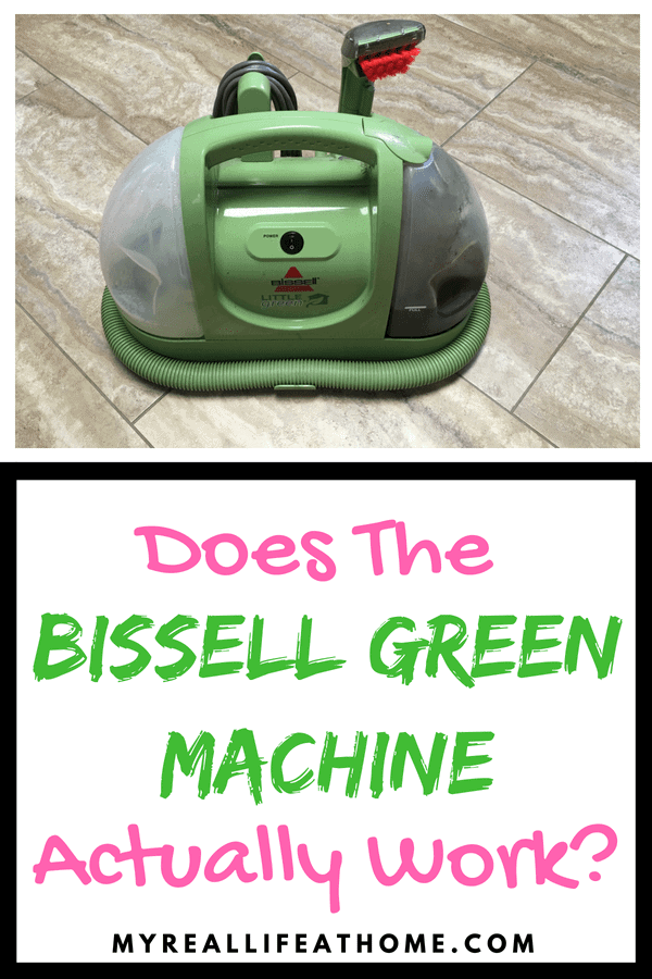 Ever wondered if the Bissell Green Machine actually works? Are you looking for a compact carpet cleaner? Wondering if you need a carpet cleaner? Check out my review as I answer all these questions. #bissellgreenmachine #productreview #carpetcleaner #cleaning
