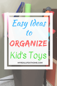 I don't know if you are like me but I feel like I like in a constant state of toy chaos. Here are some easy ideas on how you can organize your kid's toys. #organize #organizetoys #organizinghacks #organizingtips #howtoorganizetoys
