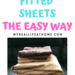 Neatly fold tan and brown bed sheets and pillow cases