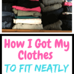 I was tired of shoving my clothes in my drawer. It was a constant mess until I found the best way to fold my clothes. Not only do they fit better but they are no longer wrinkled. #konmari #howto #howtofoldclothes