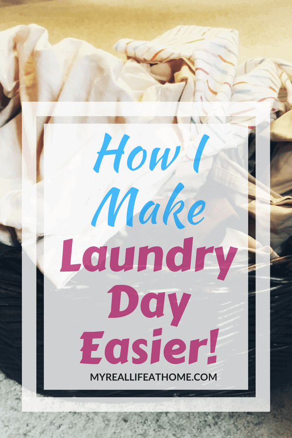 Do you struggle with laundry? Do you just try and avoid it? Here are some ways I make laundry day easier. Check out my post and see if my laundry tips can help you too! #laundry #cleaninghacks #cleaning #laundryroomorganization #laundryhacks #laundrytips