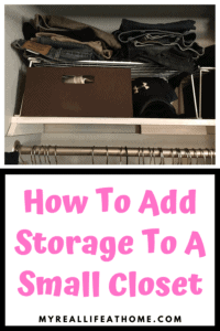 Brown fabric storage bin with