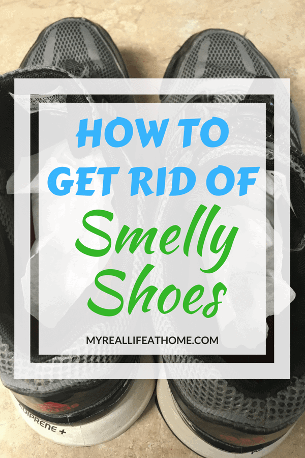My son's shoes smell and I mean really smell. I couldn't afford to buy him all new shoes so I had to find a way to make them smell better. So I did and the best part? I had the solutions already at home!! Check out how easy it was. #ridofsmellyshoes #shoeodor #cleaninghacks #odor