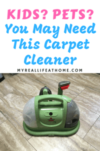 Bissell Little Green Machine on tile floor