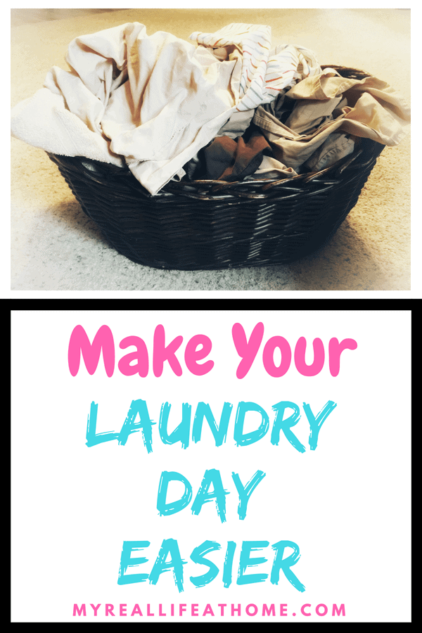 Here are some tips that I use to help make my laundry days go smoother. It also helps me to not be overwhelmed by laundry! #cleaning #cleaninghacks #cleaningtips #laundry