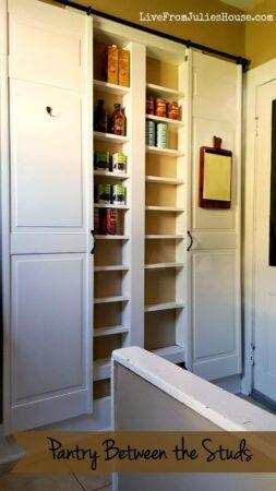 built in pantry between cupboards