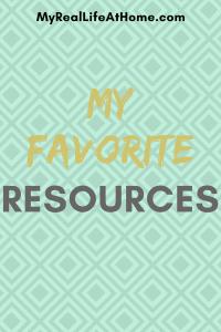 My Favorite Resources #cleaningresources #bloggingresources