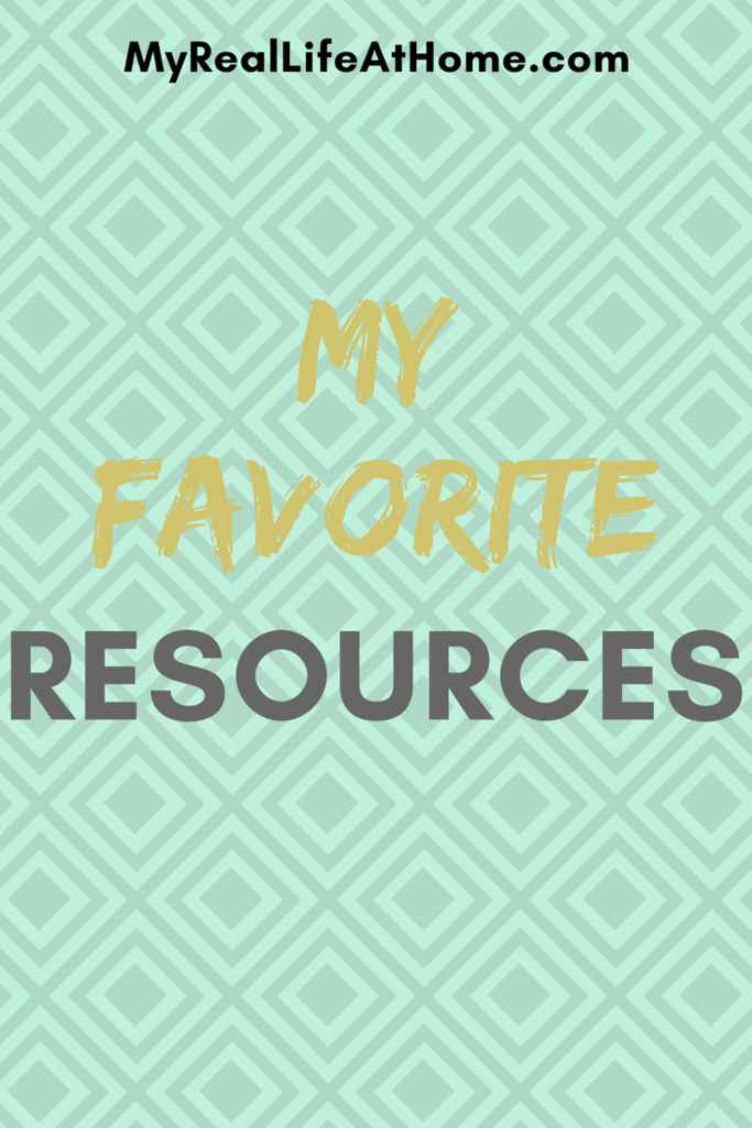 My Favorite Resources #cleaningresources #bloggingresources
