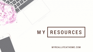 My Resources #cleaningresources #bloggingresources