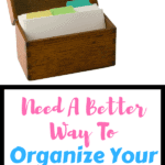 Brown wooden recipe organizer