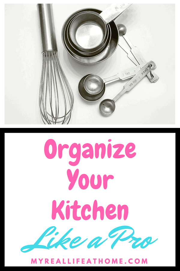 Wish your kitchen was more organized? Check out these tips to help organize your kitchen. A variety of tips including pantry, cabinets and more.. #organizing #organize #kitchen