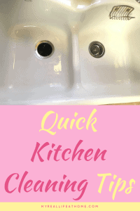 Clean and shiny white porcelain kitchen sink