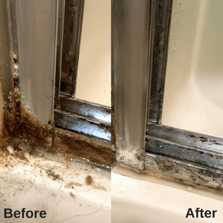 Shower Doors Before and After #cleanshowerdoors