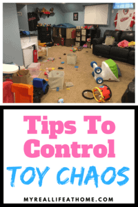 Do you ever feel like there are toys everywhere? I know I do! It's like they some how multiply overnight! Here are some organization tips I use to combat toy chaos. #organizing #organization #toystorage #toys