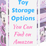 Minnie Mouse toy storage baskets and shelf
