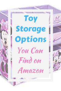 Minnie Mouse toy storage baskets and shelf