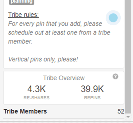 Screenshot of Tribe Rules