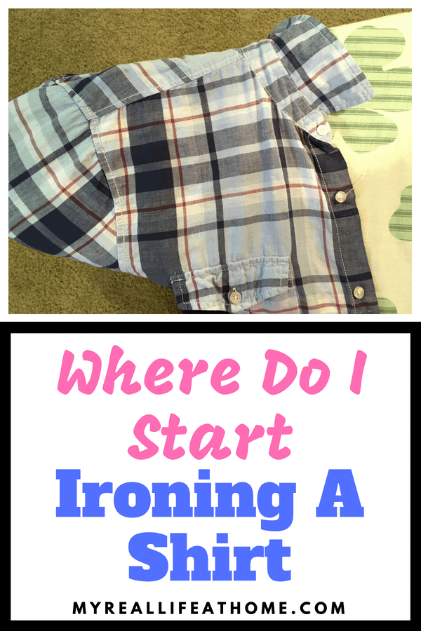 Have you ever struggle ironing a shirt? You finish ironing and realized the part you ironed first is all wrinkly again? Here is the best method I have found to iron a shirt (and dresses, etc) #howto #iron #cleaning #clothes #wrinklefree