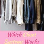 Shirts and pants hanging