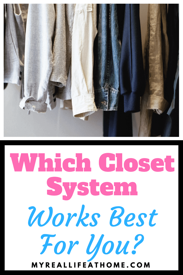 Is your closet a mess? Do you wish it was more organized? Struggling to figure out if you should purchase a closet organization system? Check out my post and see which closet system would work best for you. #organizing #organization #closetorganization #closetstorage #closethacks