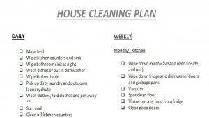 House Cleaning Plan Schedule