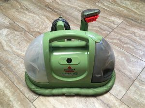 Bissell Green Machine on tile floor