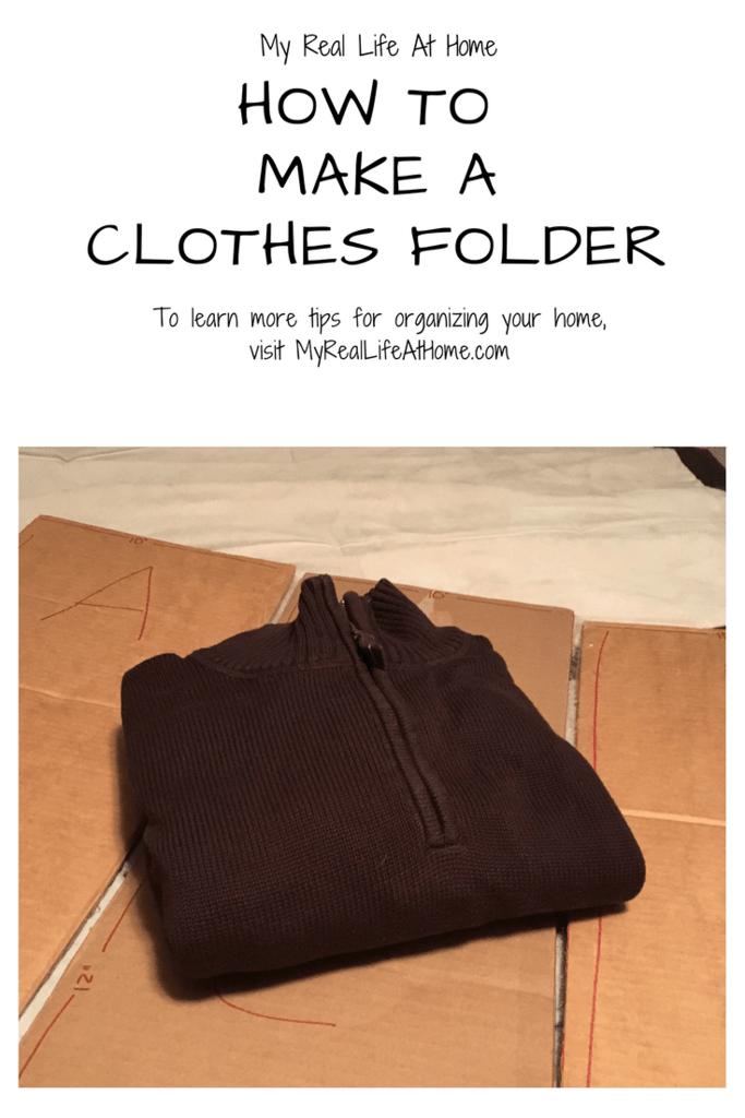 Simple steps to make your own clothes folder #perfectlyfoldedclothes #makeaclothesfolder #howtofoldclothes