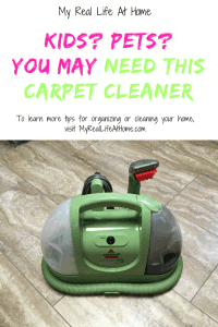 If you have kids or pets, you may need this carpet cleaner #bissellgreenmachine #carpetcleaner #bestcarpetcleaner