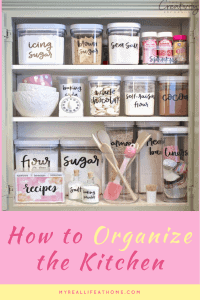 Tips to help organize your kitchen #cleankitchen #helpmymessykitchen #organizemykitchen