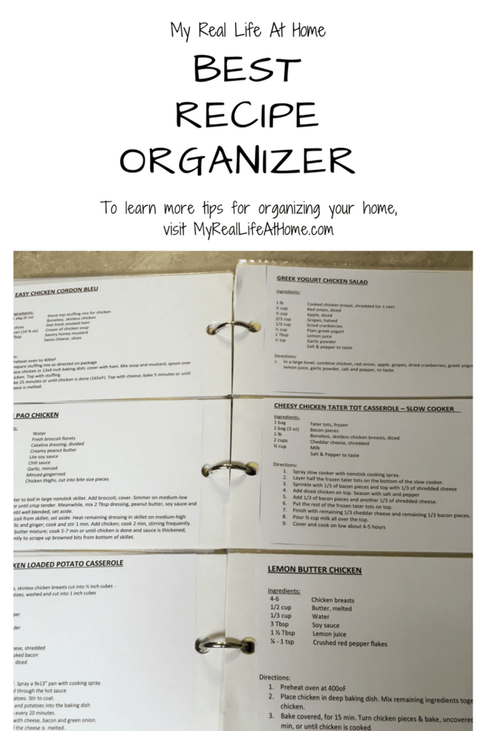 The best recipe organizer I have come across #organizeyourrecipes #recipesstorage