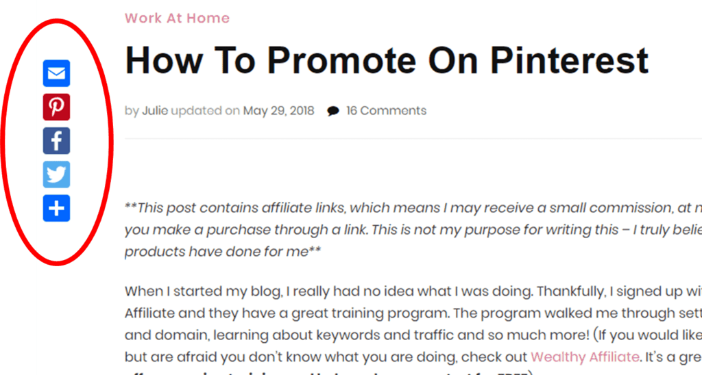 Promote on Pinterest with Social Buttons #socialbuttons #addtoanysharebutton #pinitbutton